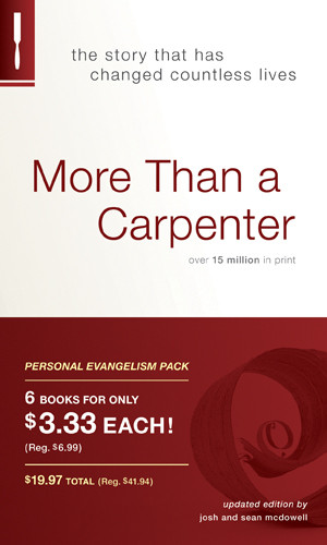 More Than a Carpenter Personal Evangelism 6-pack - Softcover
