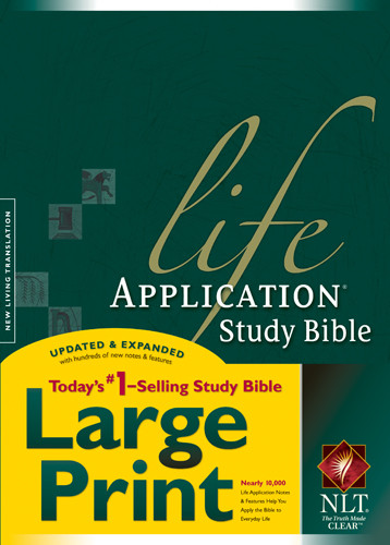 NLT Life Application Study Bible, Second Edition, Large Print (Red Letter, Hardcover, Indexed) - Hardcover With thumb index and ribbon marker(s)