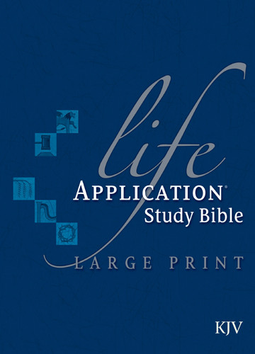 KJV Life Application Study Bible, Second Edition, Large Print (Red Letter, Hardcover, Indexed) - Hardcover With printed dust jacket and thumb index