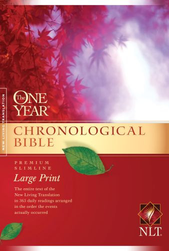 The One Year Chronological Bible NLT, Premium Slimline Large Print (Softcover) - Softcover / softback