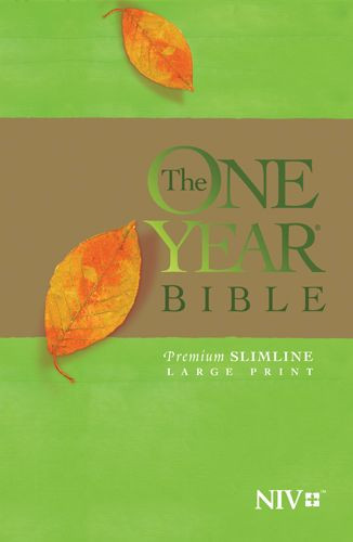 The One Year Bible NIV, Premium Slimline Large Print edition (Softcover) - Softcover With ribbon marker(s)