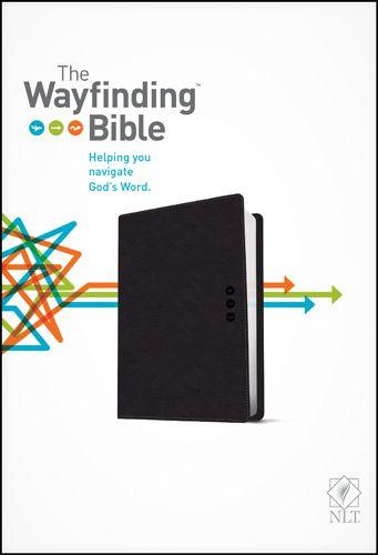 The Wayfinding Bible NLT (LeatherLike, Black) - LeatherLike Black With ribbon marker(s)