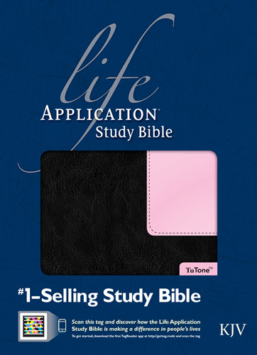KJV Life Application Study Bible, Second Edition, TuTone (Red Letter, LeatherLike, Black/Patent Leather Pink) - LeatherLike Black/Multicolor/Patent Leather Pink With ribbon marker(s)