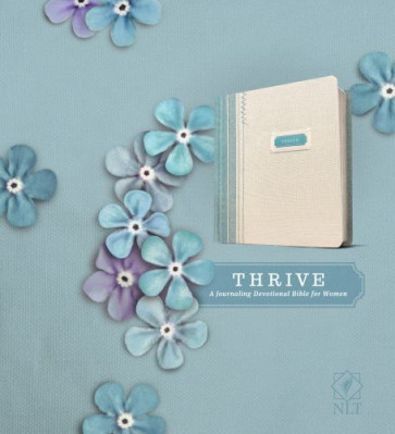 THRIVE - Hardcover Blue/Cream Shabby Chic With ribbon marker(s) Wide margin