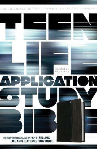 NLT Teen Life Application Study Bible (LeatherLike, Black) - LeatherLike Black With ribbon marker(s)