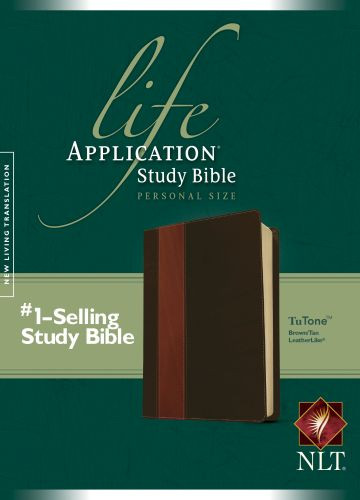 NLT Life Application Study Bible, Second Edition, Personal Size (LeatherLike, Brown/Tan) - LeatherLike Brown/Multicolor/Tan With ribbon marker(s)