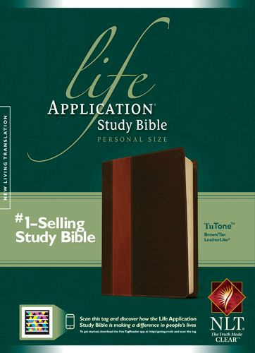 NLT Life Application Study Bible, Second Edition, Personal Size (LeatherLike, Brown/Tan, Indexed) - LeatherLike Brown/Multicolor/Tan With thumb index and ribbon marker(s)