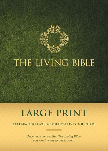 The Living Bible Large Print Edition (Hardcover, Green) - Hardcover Green