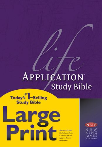 NKJV Life Application Study Bible, Second Edition, Large Print (Red Letter, Hardcover) - Hardcover