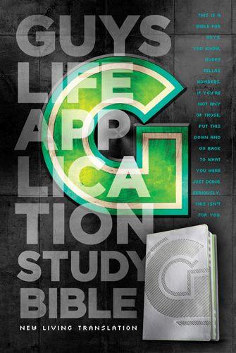 NLT Guys Life Application Study Bible (LeatherLike, Iridium) - LeatherLike Iridium With ribbon marker(s)