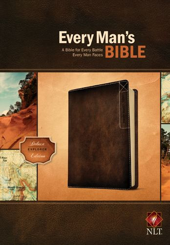 Every Man's Bible NLT, Deluxe Explorer Edition (LeatherLike, Brown) - LeatherLike Brown With ribbon marker(s)