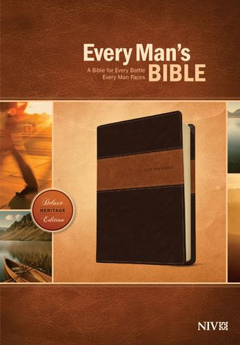 Every Man's Bible NIV, Deluxe Heritage Edition, TuTone (LeatherLike, Brown/Tan) - LeatherLike Brown/Multicolor/Tan With ribbon marker(s)