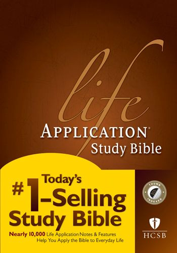 HCSB Life Application Study Bible, Second Edition (Red Letter, Hardcover, Indexed) - Hardcover With thumb index