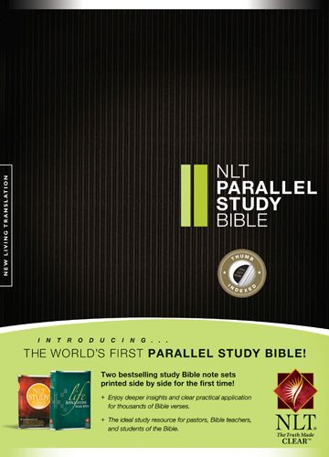 NLT Parallel Study Bible (Hardcover, Indexed) - Hardcover With thumb index