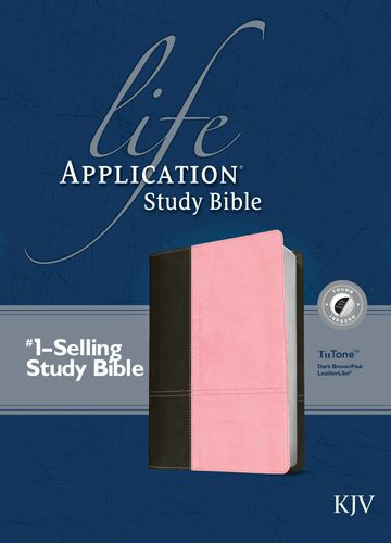 KJV Life Application Study Bible, Second Edition, TuTone (Red Letter, LeatherLike, Dark Brown/Pink, Indexed) - LeatherLike Dark Brown/Multicolor/Pink With thumb index and ribbon marker(s)