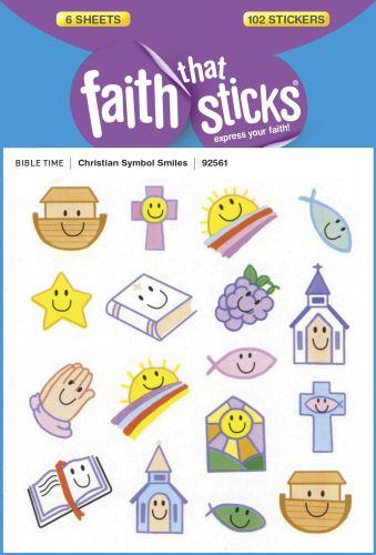Christian Symbol Smiles - Stickers