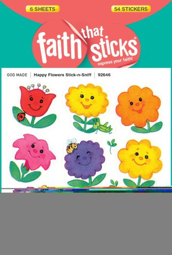 Happy Flowers Stick-n-Sniff - Stickers