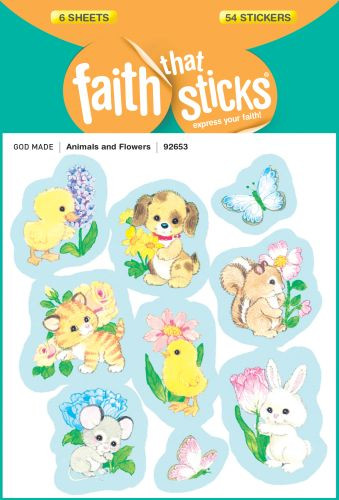 Animals and Flowers - Stickers