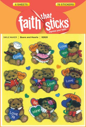 Bears and Hearts - Stickers