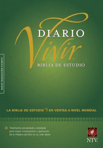 Biblia de estudio del diario vivir NTV (Letra Roja, Tapa dura, Verde, Índice) - Hardcover Green With thumb index