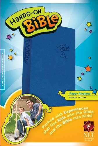 Hands-On Bible NLT (LeatherLike, Blue) - LeatherLike Blue With ribbon marker(s)