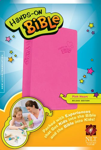 Hands-On Bible NLT (LeatherLike, Pink) - LeatherLike Pink With ribbon marker(s)