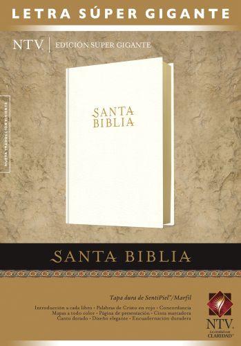 Santa Biblia NTV, Edición súper gigante (Letra Roja, SentiPiel, Marfil) - LeatherLike/Hardcover Ivory With ribbon marker(s)