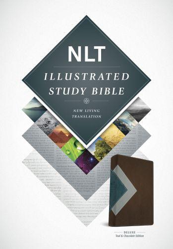 Illustrated Study Bible NLT, TuTone (LeatherLike, Teal/Chocolate) - LeatherLike Chocolate/Multicolor/Teal With ribbon marker(s)