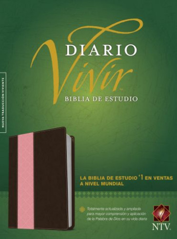 Biblia de estudio del diario vivir NTV  - LeatherLike Brown/Multicolor/Pink With ribbon marker(s)