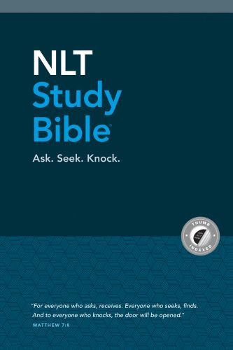 NLT Study Bible (Red Letter, Hardcover Cloth, Blue, Indexed) - Hardcover Blue With thumb index