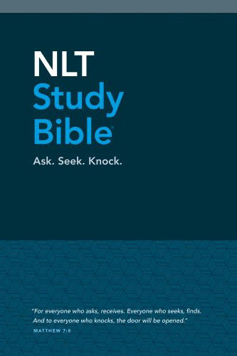 NLT Study Bible (Red Letter, Hardcover Cloth, Blue) - Hardcover Blue