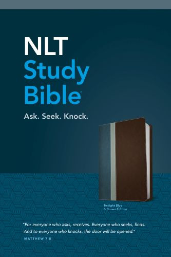 NLT Study Bible, TuTone (Red Letter, LeatherLike, Twilight Blue/Brown) - LeatherLike Twilight Blue/Brown/Multicolor With ribbon marker(s)