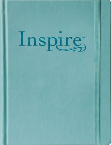 Inspire Bible Large Print NLT (Hardcover LeatherLike, Tranquil Blue) - Hardcover Tranquil Blue With ribbon marker(s) Wide margin