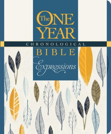 The One Year Chronological Bible Expressions, Deluxe (Hardcover, Blue) - Hardcover Blue With ribbon marker(s)
