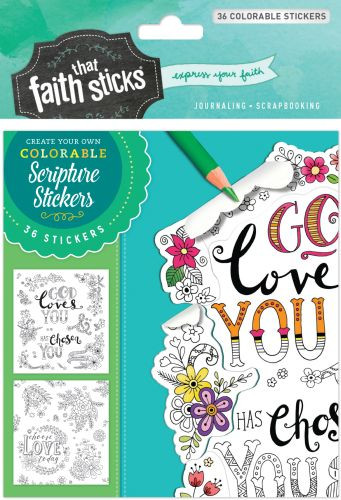 1 Thessalonians 1:4 Colorable Stickers - Stickers