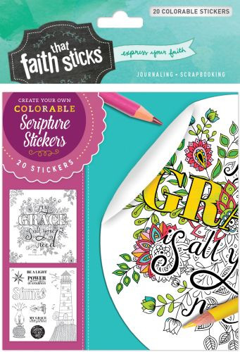 2 Corinthians 12:9 Colorable Stickers - Stickers