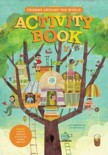 Friends Around the World Activity Book - Spiral bound Paper over boards