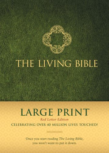 The Living Bible Large Print Red Letter Edition - Hardcover Green