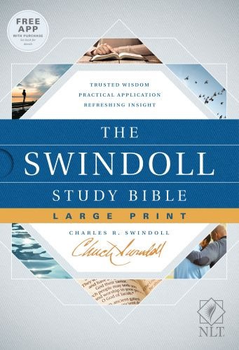 The Swindoll Study Bible NLT, Large Print (Hardcover) - Hardcover