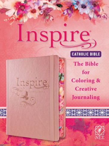 Inspire Catholic Bible NLT - Hardcover Rose Gold With ribbon marker(s) Wide margin