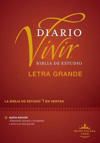 Biblia de estudio del diario vivir RVR60, letra grande (Letra Roja, Tapa dura, Índice) - Hardcover With thumb index