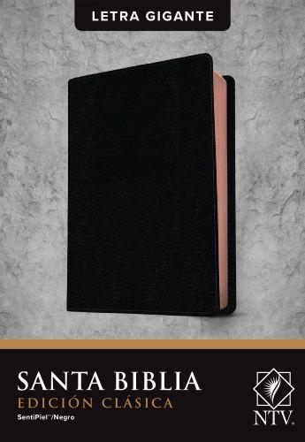 Santa Biblia NTV, Edición clásica, letra gigante  (Letra Roja, SentiPiel, Negro) - LeatherLike Black With ribbon marker(s)