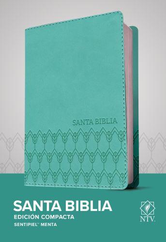 Santa Biblia NTV, Edición compacta (SentiPiel, Menta) - LeatherLike Mint With ribbon marker(s)