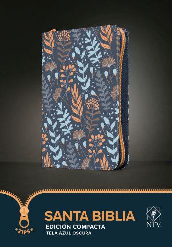 Santa Biblia NTV, Edición compacta (Tela, Azul oscuro) - Softcover Dark Blue With zip fastener