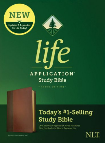 NLT Life Application Study Bible, Third Edition (LeatherLike, Brown/Mahogany) - LeatherLike Brown/Mahogany/Multicolor With ribbon marker(s)
