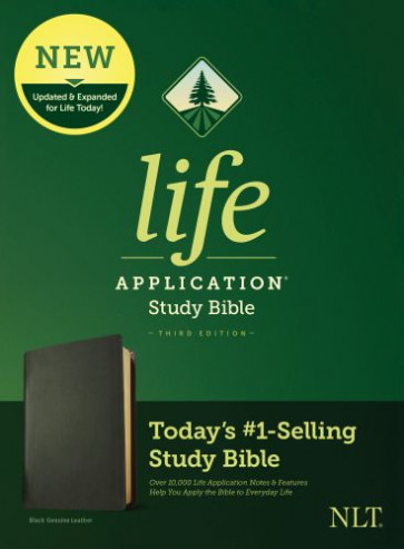 NLT Life Application Study Bible, Third Edition (Genuine Leather, Black) - Genuine Leather Black With ribbon marker(s)