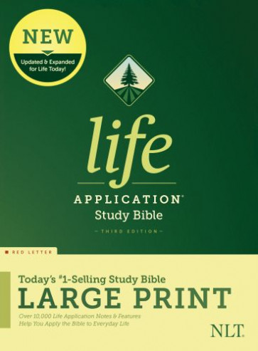 NLT Life Application Study Bible, Third Edition, Large Print (Red Letter, Hardcover) - Hardcover With dust jacket