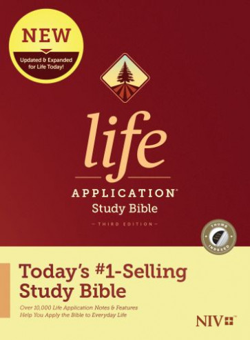 NIV Life Application Study Bible, Third Edition (Hardcover, Indexed) - Hardcover With printed dust jacket and thumb index