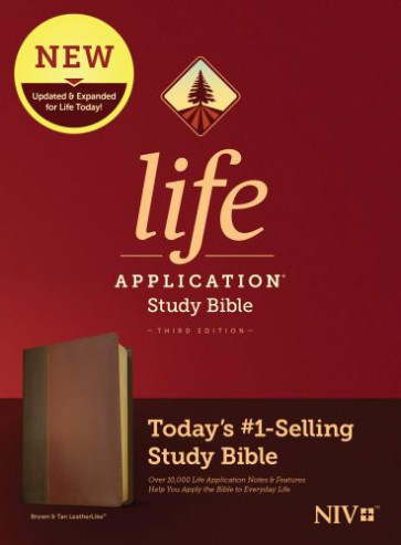 NIV Life Application Study Bible, Third Edition (LeatherLike, Brown/Mahogany) - LeatherLike Brown/Mahogany/Multicolor With ribbon marker(s)