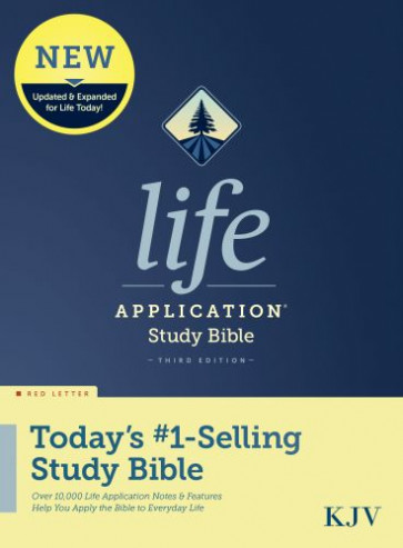 KJV Life Application Study Bible, Third Edition (Red Letter, Hardcover) - Hardcover With printed dust jacket